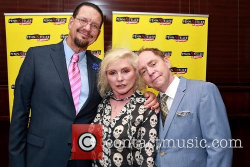 Penn Jillette, Debbie Harry and Teller 5