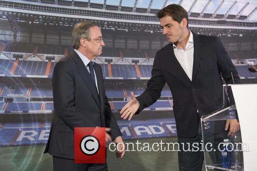 Iker Casillas and Florentino Perez 2