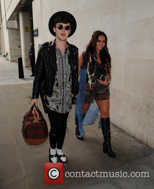 Jesy Nelson and Jake Roche arrive at Radio...