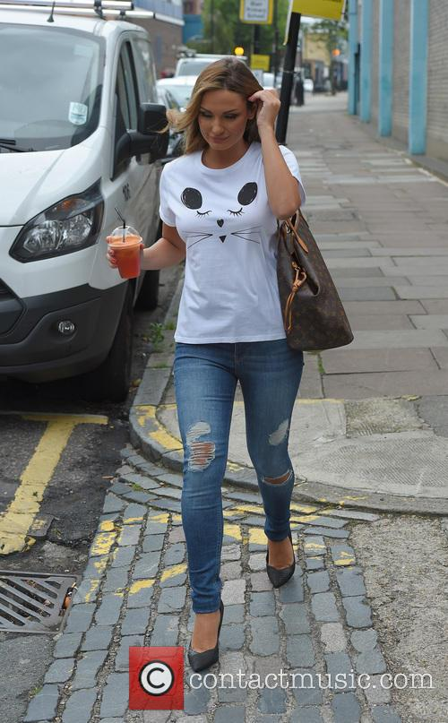 Samantha Faiers leaving a North London studio, carrying...