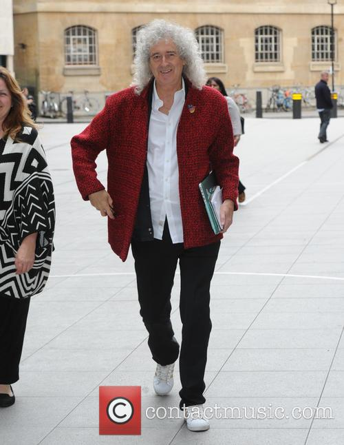 Brian May at the BBC to discuss Fox...