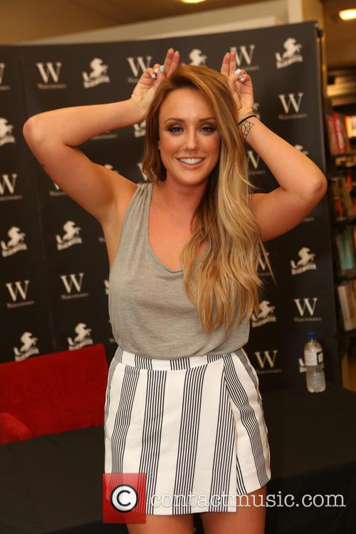 Charlotte Crosby signs copies of her autobiography