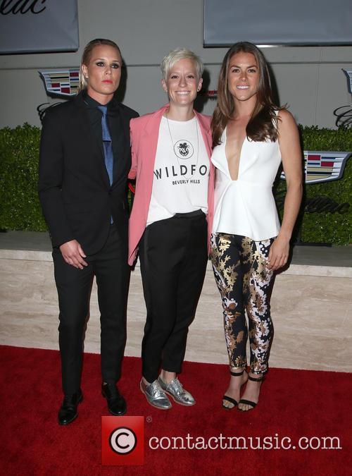 Ashlyn Harris, Megan Rapinoe and Kelley O'hara 10