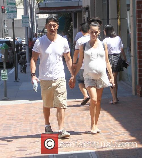 Brian Tee and Mirelly Taylor go shopping in...