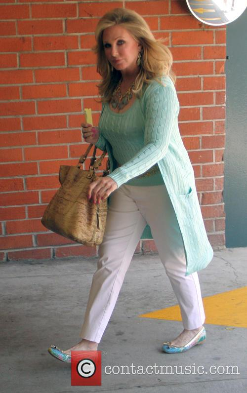 Donna Mills goes shopping in Beverly Hills