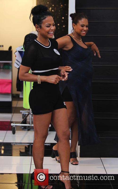Christina Milian and Danielle 7
