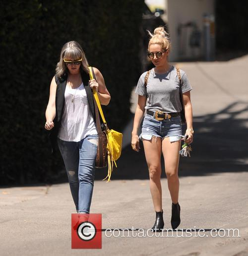 Ashley Tisdale wears short shorts