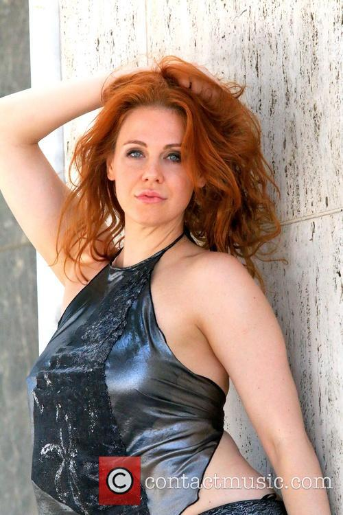 Maitland Ward on a photo shoot for Quynh...