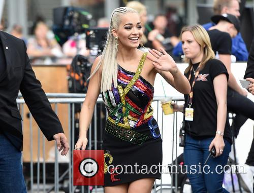 Rita Ora at X Factor auditions in London