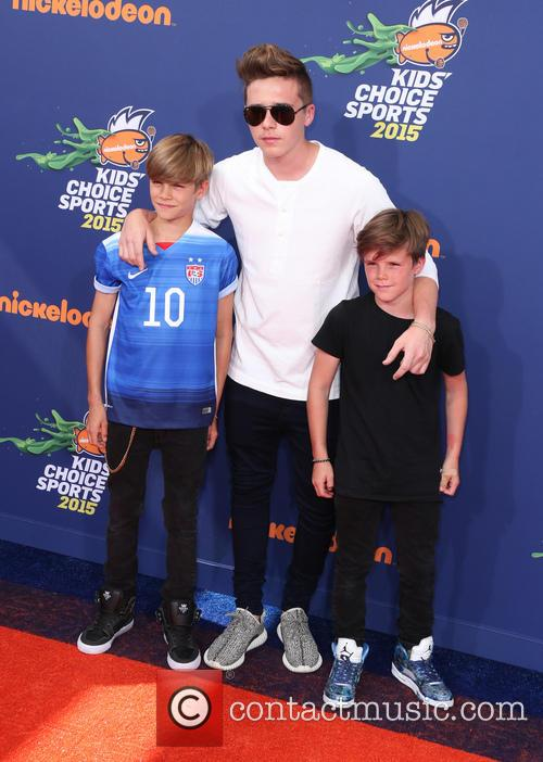 Brooklyn, Romeo Beckham and Cruz Beckham 2