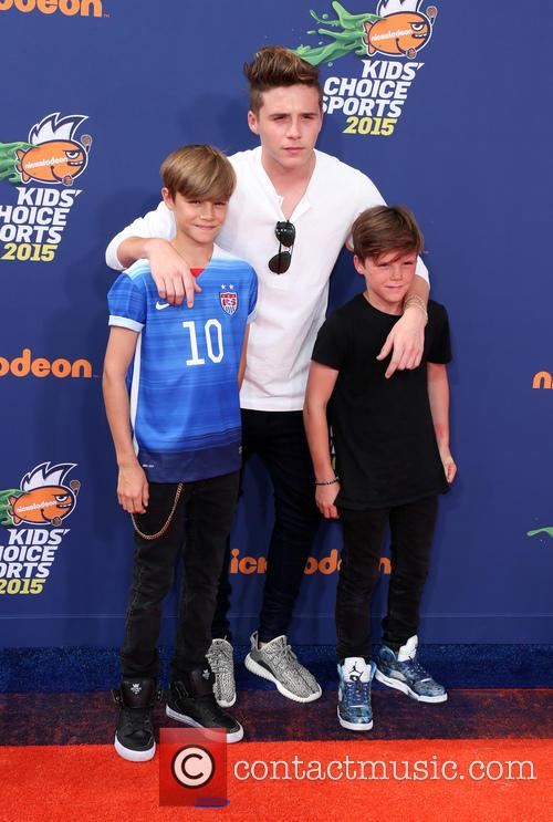Brooklyn, Romeo Beckham and Cruz Beckham 3