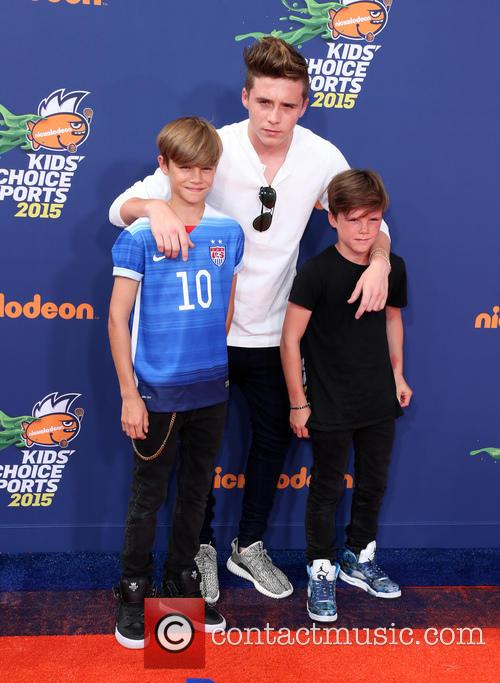 Brooklyn, Romeo Beckham and Cruz Beckham 1