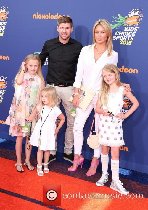 Steven Gerrard, Alex Gerrard, Lilly-ella Gerrard, Lexie Gerrard and Lourdes Gerrard 2