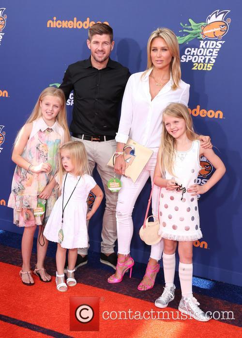 Steven Gerrard, Alex Gerrard, Lilly-ella Gerrard, Lexie Gerrard and Lourdes Gerrard 1