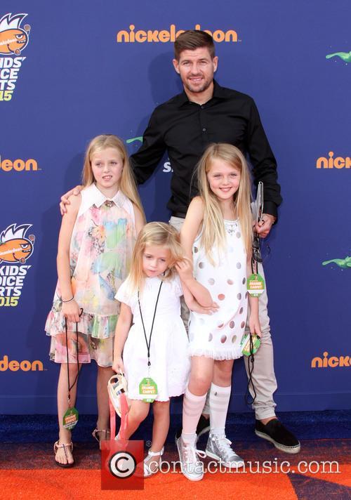 Steven Gerrard, Wife Alex Gerrard, Daughters Lilly-ella Gerrard, Lexie Gerrard and Lourdes Gerrard 3