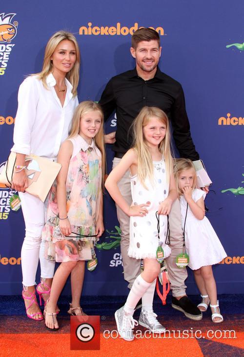 Steven Gerrard, Wife Alex Gerrard, Daughters Lilly-ella Gerrard, Lexie Gerrard and Lourdes Gerrard 4