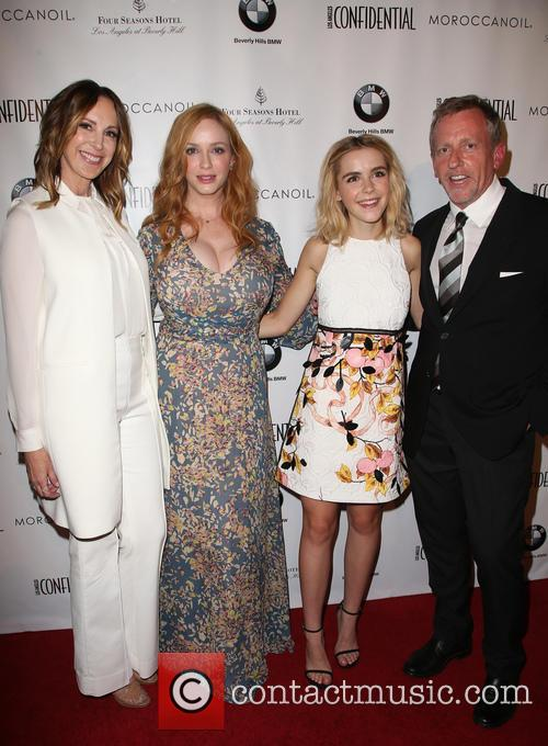 Alison Miller, Christina Hendricks, Kiernan Shipka and Spencer Beck 9