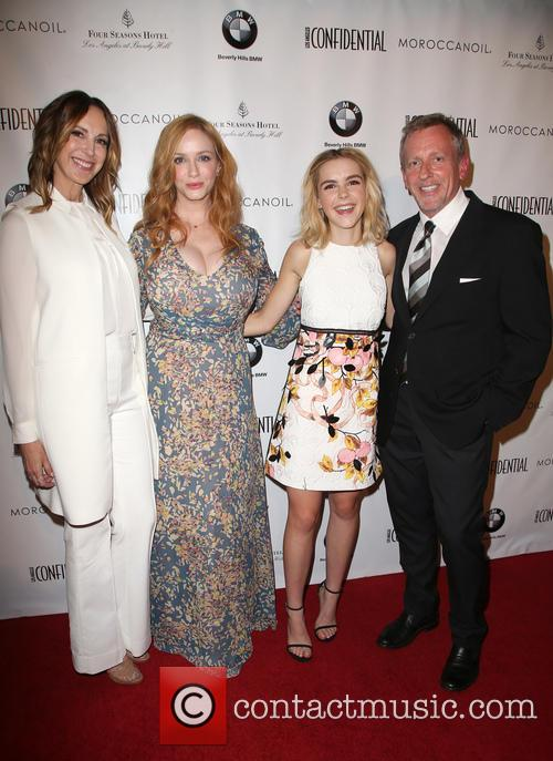 Alison Miller, Christina Hendricks, Kiernan Shipka and Spencer Beck 10