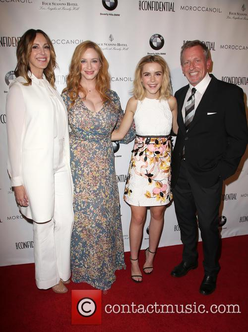 Alison Miller, Christina Hendricks, Kiernan Shipka and Spencer Beck 11