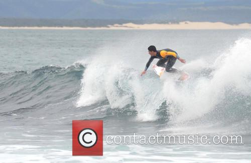 World surfing champion Gabriel Medina practices ahead of...
