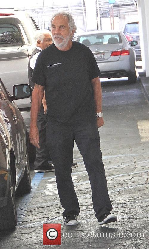 Comedian Tommy Chong goes shopping in Beverly Hills
