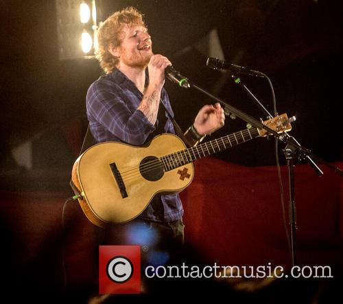 Ed Sheeran performing a secret gig at the...