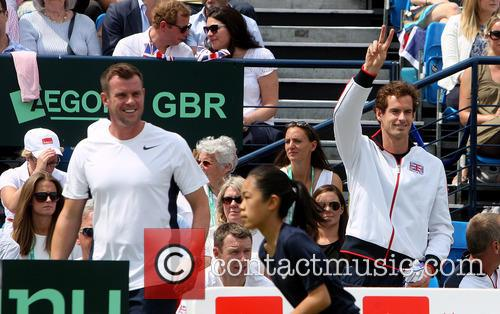 Kim Sears, Kim Murray and Andy Murray 1