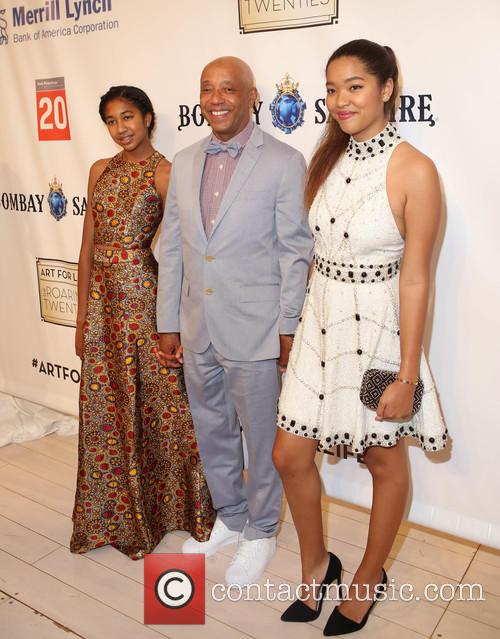 Russell Simmons and Daughters 1