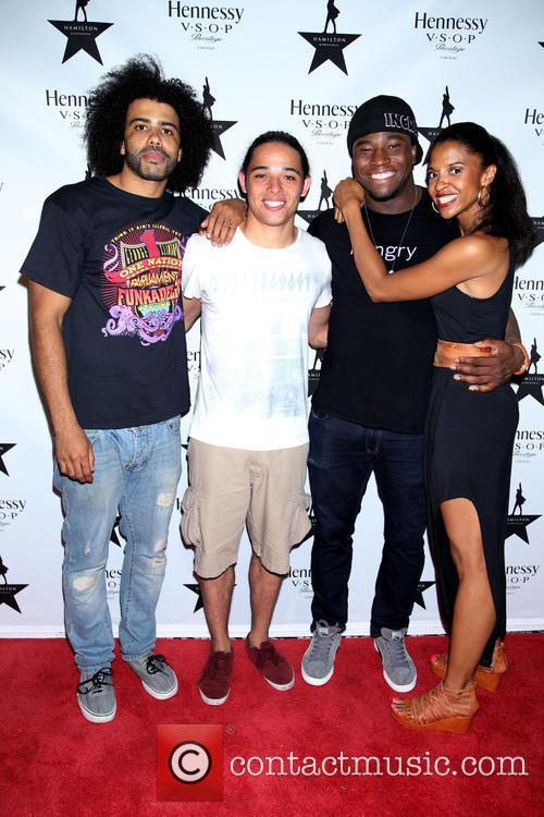 Daveed Diggs, Anthony Ramos, Okieriete Onaodowan and Renée Elise Goldsberry 3