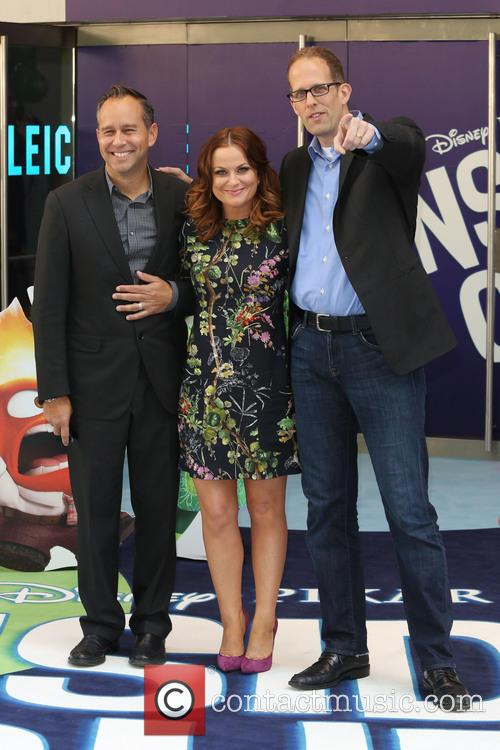 Amy Poehler, Pete Docter and Jonas Rivera 2