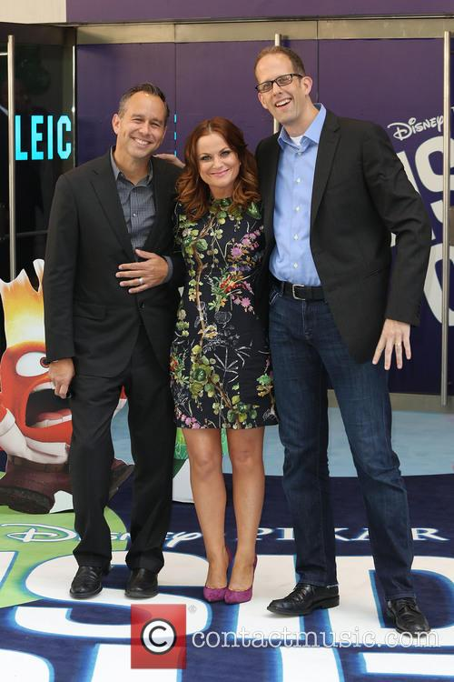 Amy Poehler, Pete Docter and Jonas Rivera 7