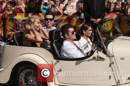 Nick Grimshaw, Rita Ora, Simon Cowell, Cheryl Cole and Cheryl Fernandez-versini 1