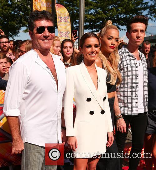 Simon Cowell, Cheryl Ann Fernandez-versini, Rita Ora and Nick Grimshaw 3