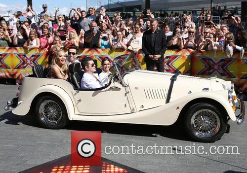 Rita Ora, Nick Grimshaw, Simon Cowell, Cheryl Fernandez-versini and Cheryl Cole 2