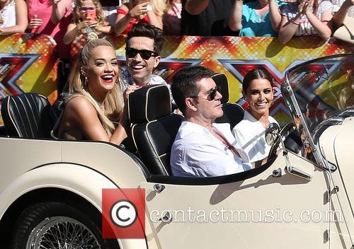 Rita Ora, Nick Grimshaw, Simon Cowell, Cheryl Fernandez-versini and Cheryl Cole 3