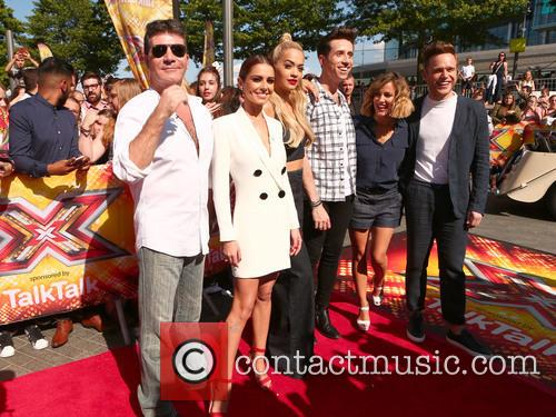 Simon Cowell, Cheryl Fernandez-versini, Rita Ora, Nick Grimshaw, Caroline Flack and Olly Murs 5