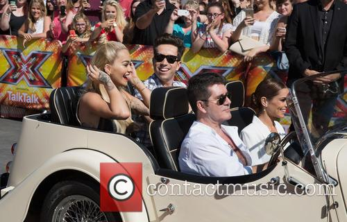 Rita Ora, Nick Grimshaw, Simon Cowell and Cheryl Fernandez-versini 11