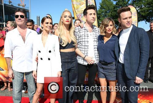 Simon Cowell, Cheryl Fernandez-versini, Cheryl Cole, Rita Ora, Nick Grimshaw, Caroline Flack and Olly Murs 11