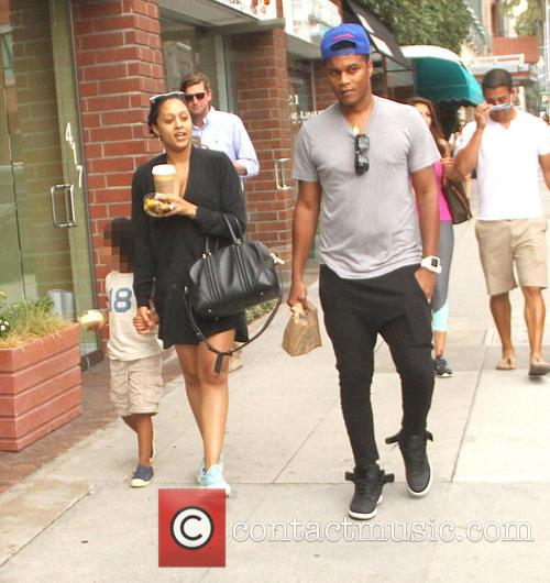 Cory Hardrict and Tia Mowry shopping in Beverly...