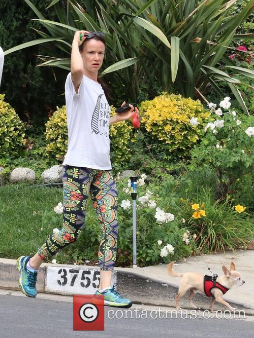 Juliette Lewis takes a morning walk with her...