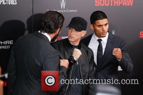 Jake Gyllenhaal, Eminem and Miguel Gomez 2
