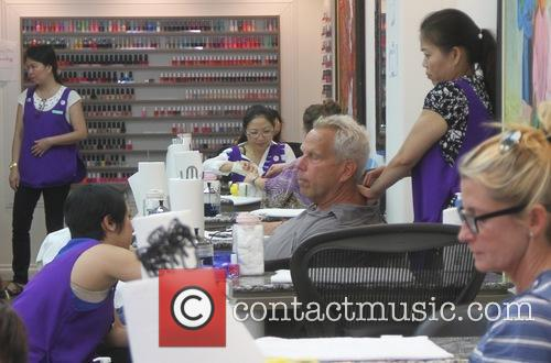 Steve Tisch goes to a nail salon