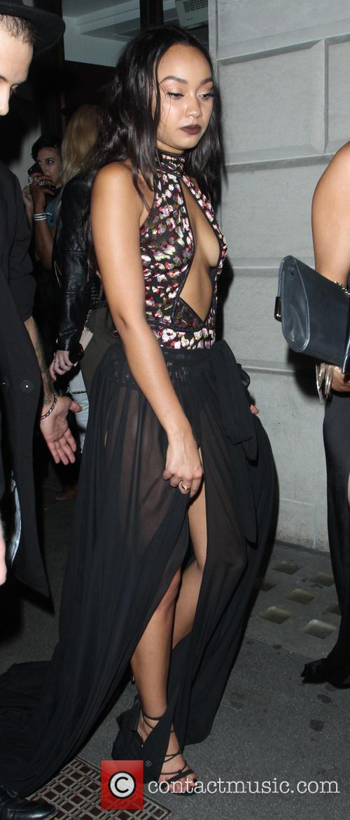 Little Mix leave the Steam & Rye restaurant