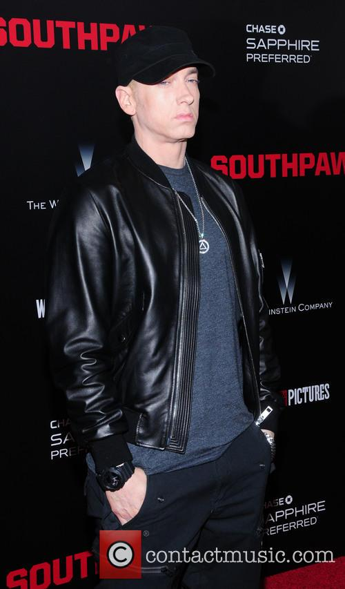 Eminem at the 'Southpaw' premiere