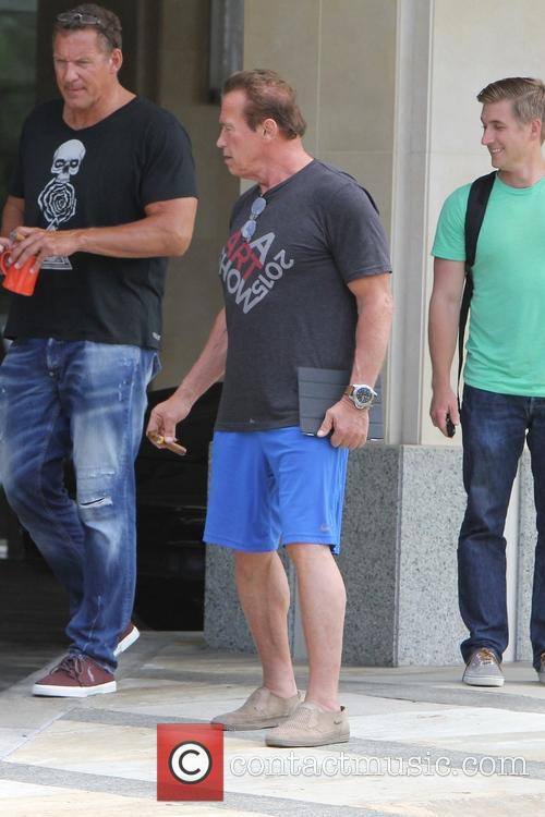 Arnold Schwarzenegger out shopping in Brentwood