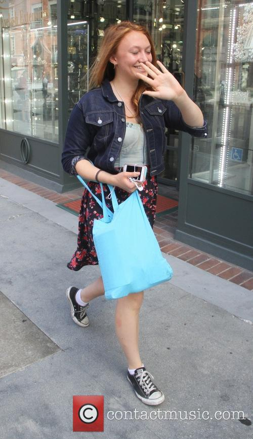 Jacqueline Emerson goes shopping in Beverly Hills