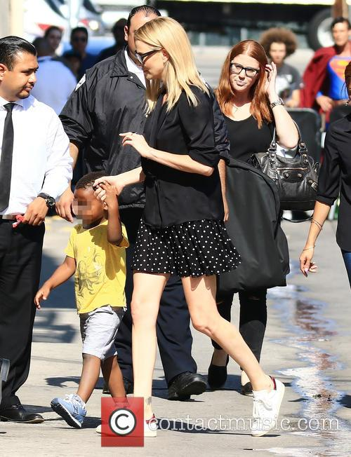 Celebrities at the ABC studios for 'Jimmy Kimmel...