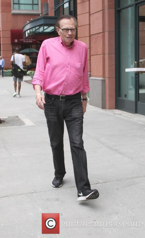 Larry King goes shopping in Beverly Hills