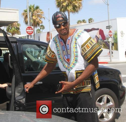 Serge Ibaka grabs lunch in Beverly Hills