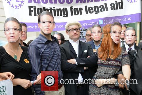 Legal aid protest at Westminster Magistrates' Court